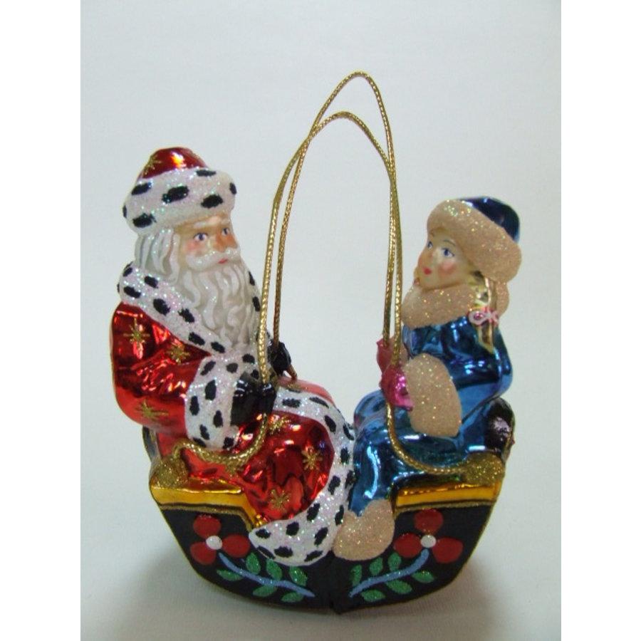 Kerstman en dame in gondel-1
