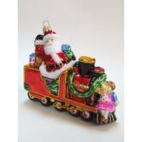 Kerstman in Locomotief