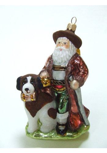 Abelia.nl Kerst Kerstman met hond Bernard