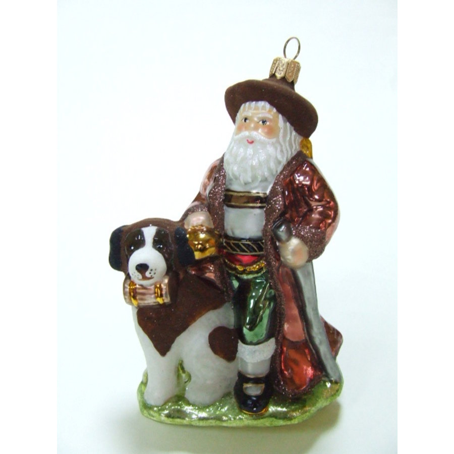 Kerstman met hond Bernard-1