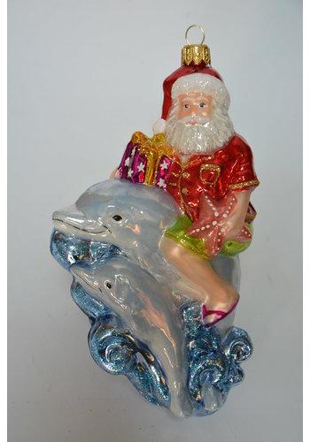 Abelia.nl Kerst Kerstman  met dolfijnen