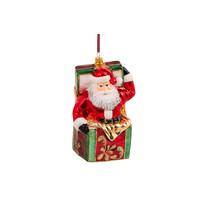 Kerstman in een box