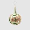 Abelia.nl Kerst Kerstbal groen met nek en bloem  lang