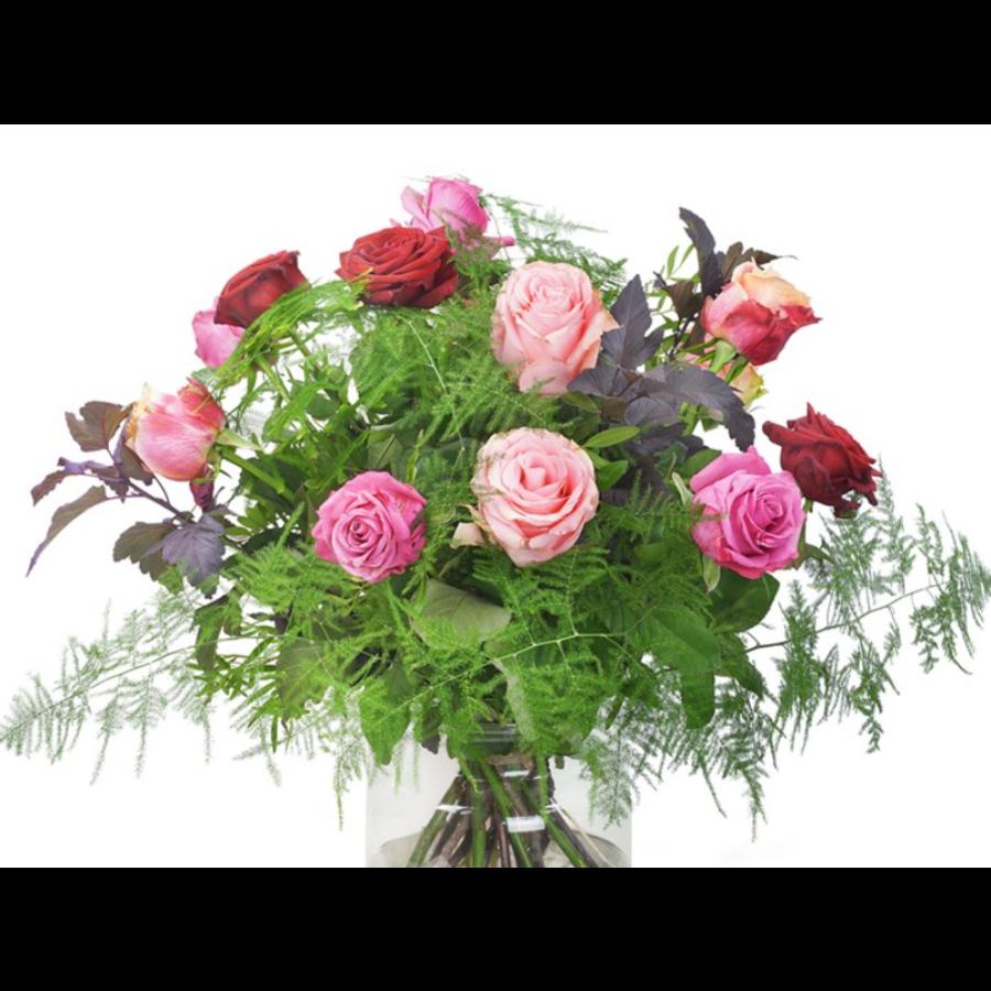 Gemende rozen boeket-2