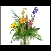 thumb-Kleurig Plukboeket van seizoensbloemen-2