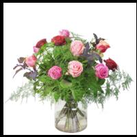 thumb-Gemende rozen boeket-1