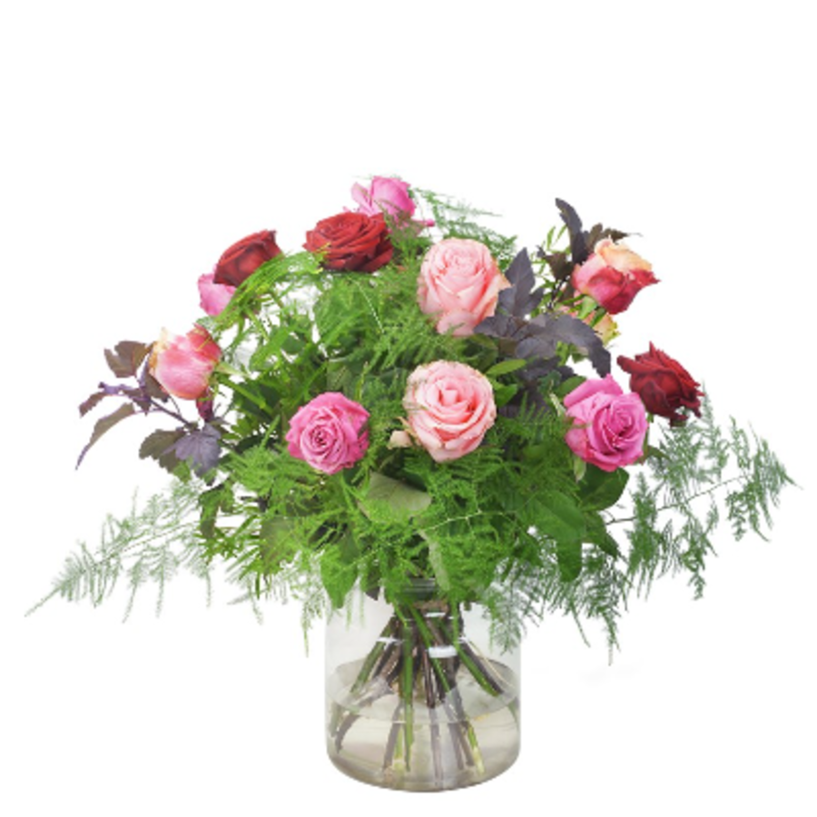 Gemende rozen boeket-1
