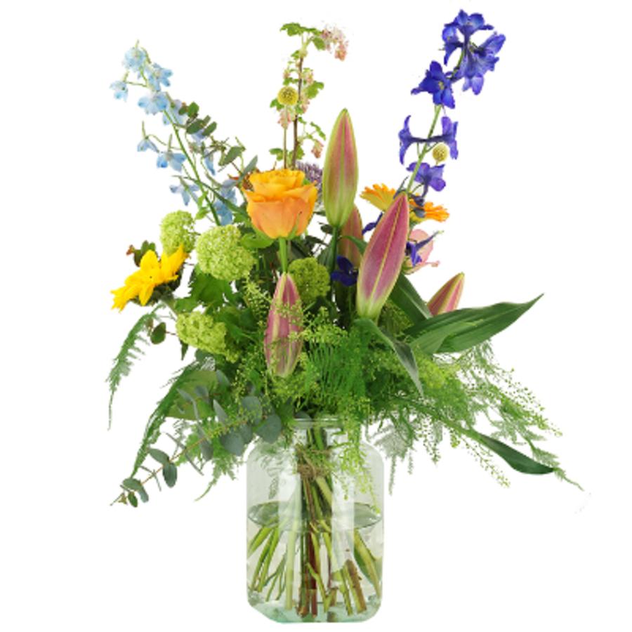 Kleurig Plukboeket van seizoensbloemen-1