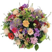 thumb-Royaal bont bloemrijk arrangement-1