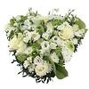 Abelia Meesterbinders Wit groen hart rouwstuk