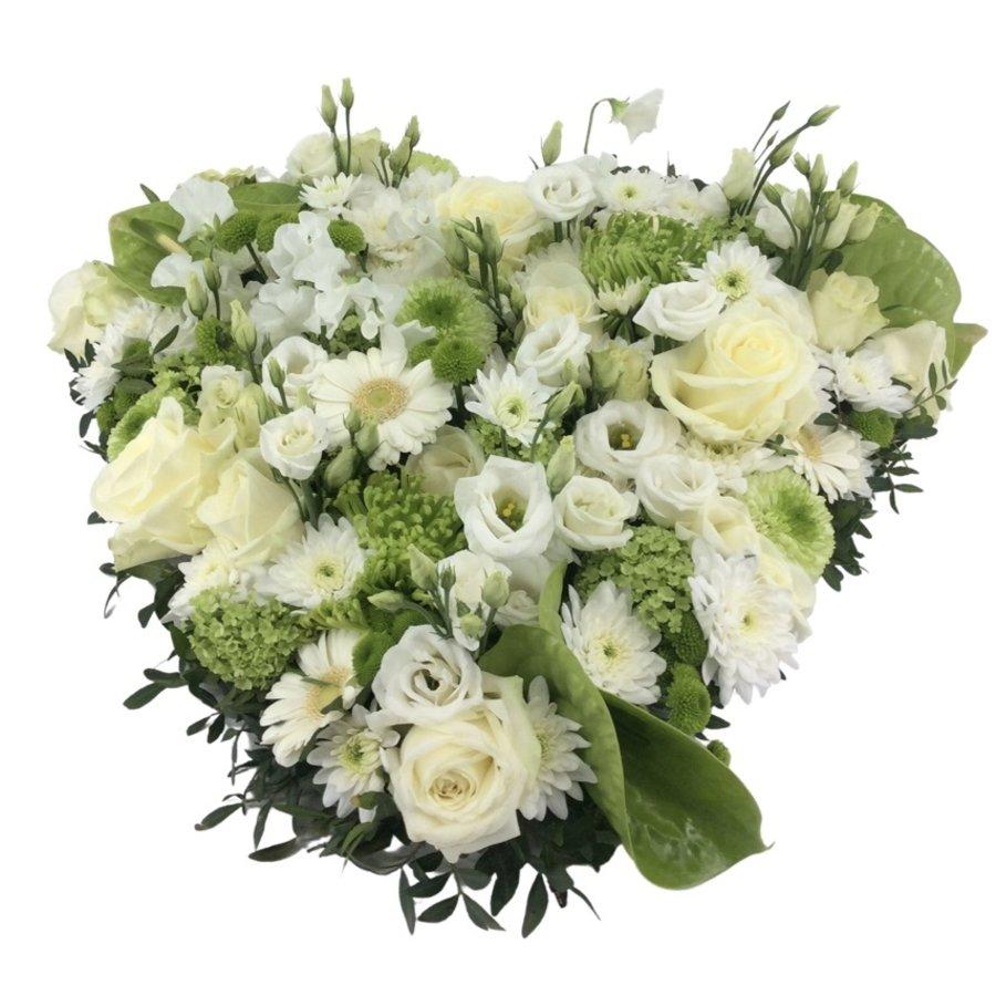 Wit groen hart rouwstuk-1