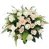 Abelia Meesterbinders Zalm en  witte rozen ovaal