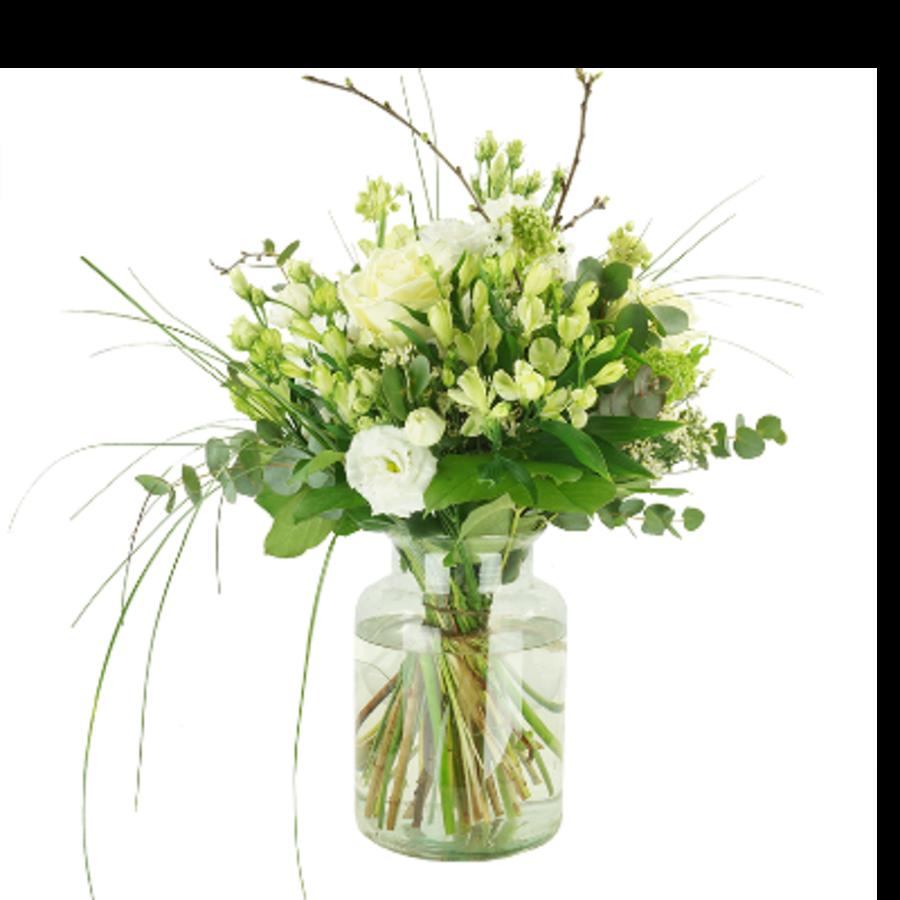 Wit bloemen boeket-1