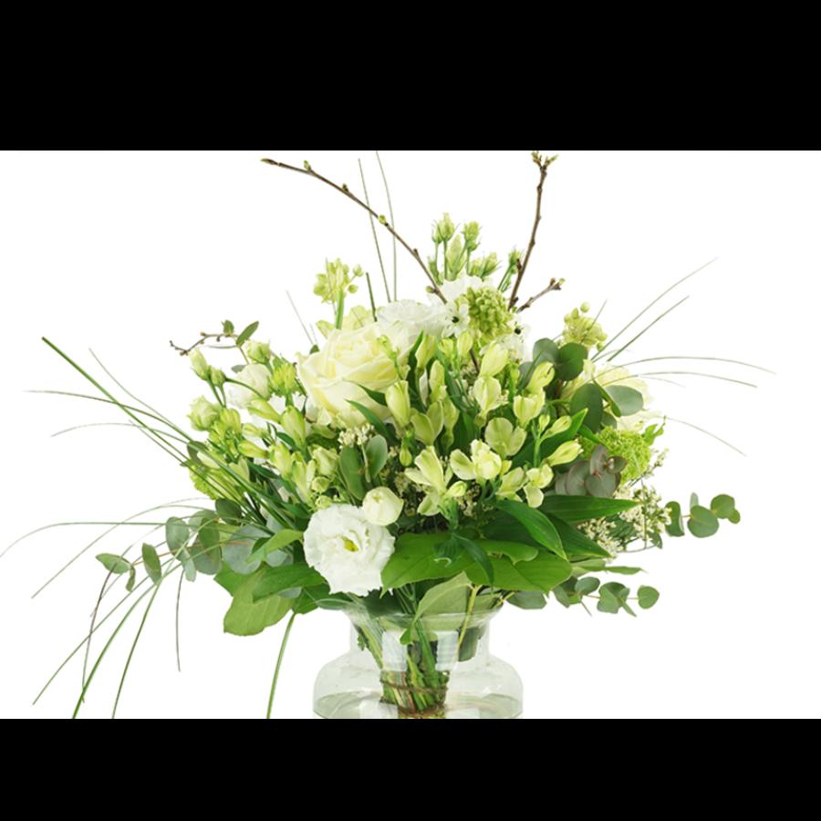 Wit bloemen boeket-2