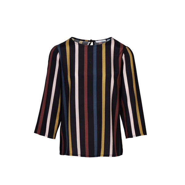 Dorris stripe blouse midnight