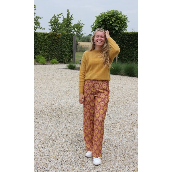 Paola pants damask