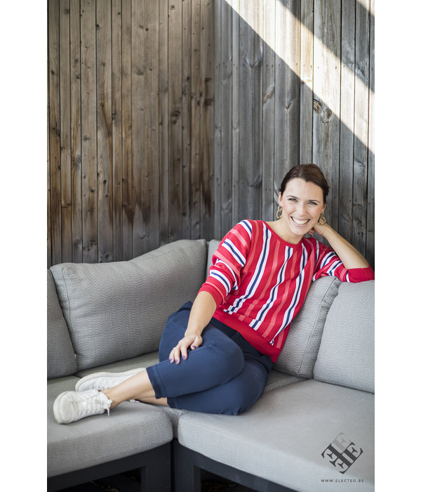 Four Roses Red striped jumper