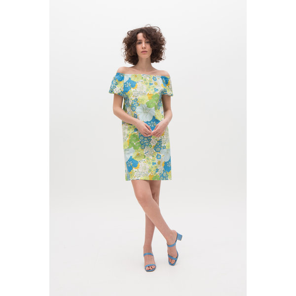 Vada summer dress lime flowers