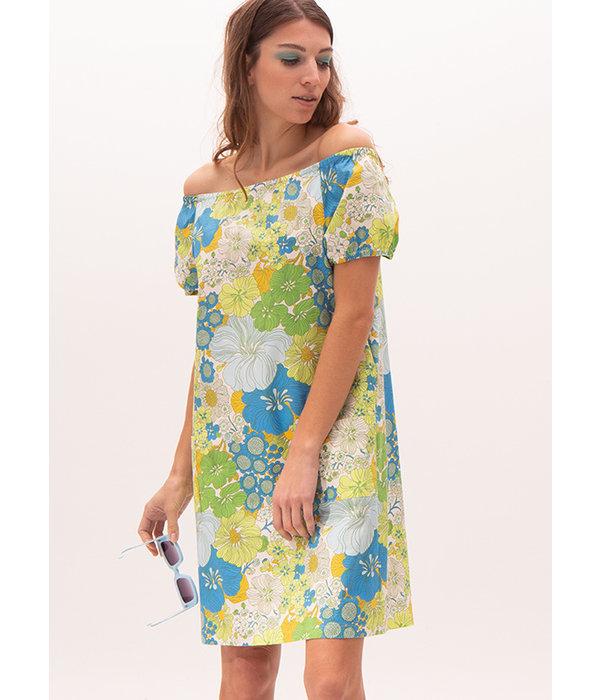Nathalie Vleeschouwer Vada summer dress lime flowers