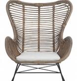 J-Line Lounge stoel rotan