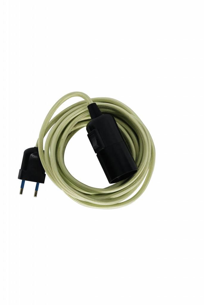 Un Esprit en Plus Flexible lamp fabric cable Mintgreen