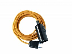 Un Esprit en Plus Lamp fabric cable gold