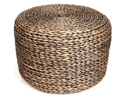 Dome Deco Stool woven waterhyacinth round