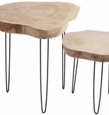 J-Line Tree trunk side table small