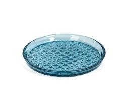 Dome Deco Glazen bord blauw