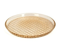 Dome Deco Glass plate yellow