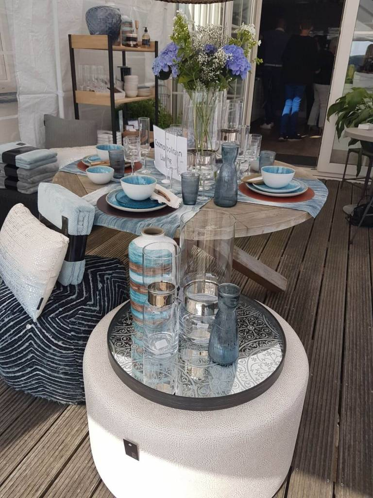 Dome Deco Kan of vaas blauw