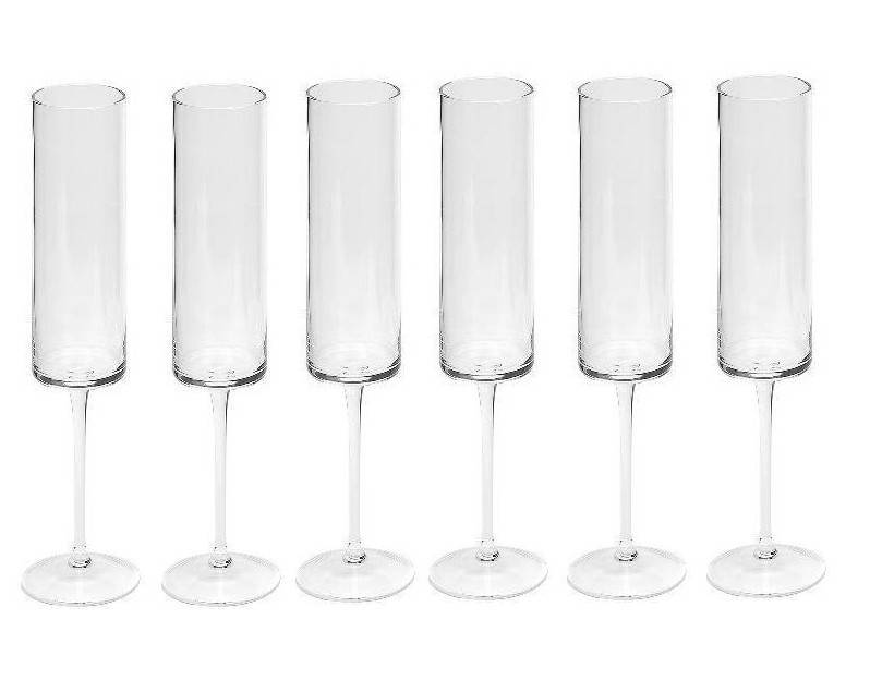Dome Deco Champagne glasses - set of six
