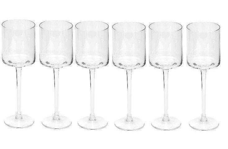Dome Deco White wine glasses - set of six
