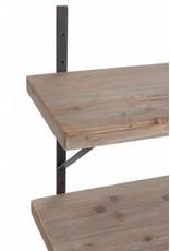 J-Line Muurrek hout en metaal