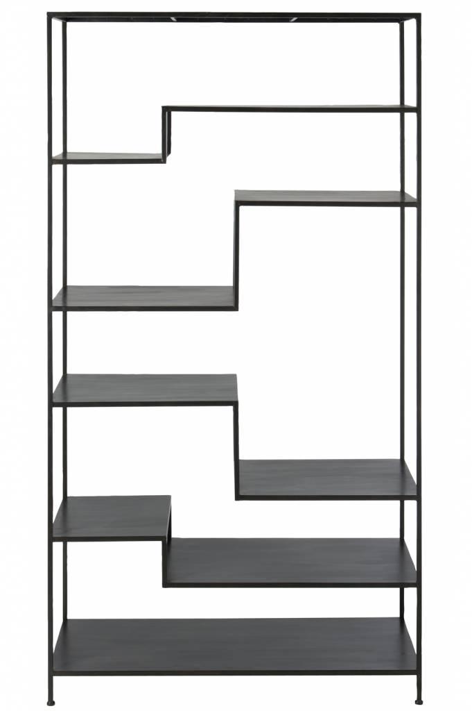 J-Line Rek 6 niveau zwart