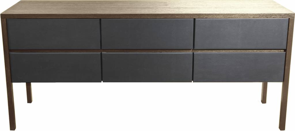 Dome Deco Brown buffet with leather fronts