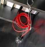 Un Esprit en Plus Snoerlamp rood met schakelaar