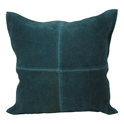 Dome Deco Dark green pillow leather