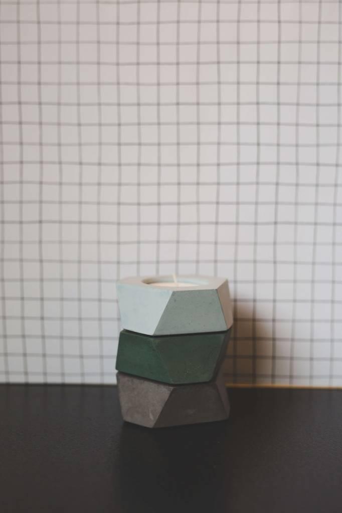 Atelier Pierre Facet mini T-light licht grijs beton