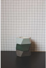 Atelier Pierre Facet mini T-light donker grijs beton