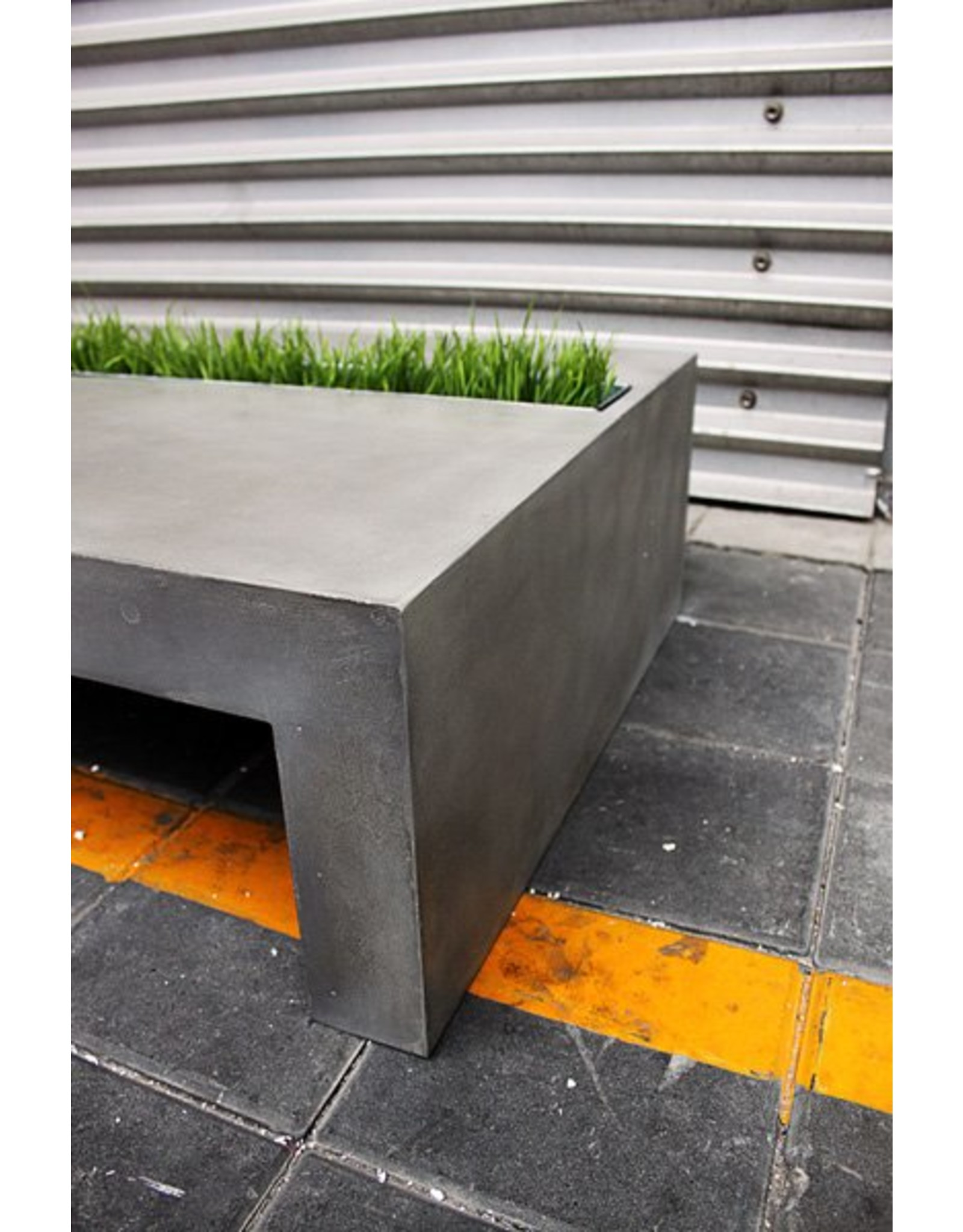 Lyon Béton Green rechthoekige salontafel