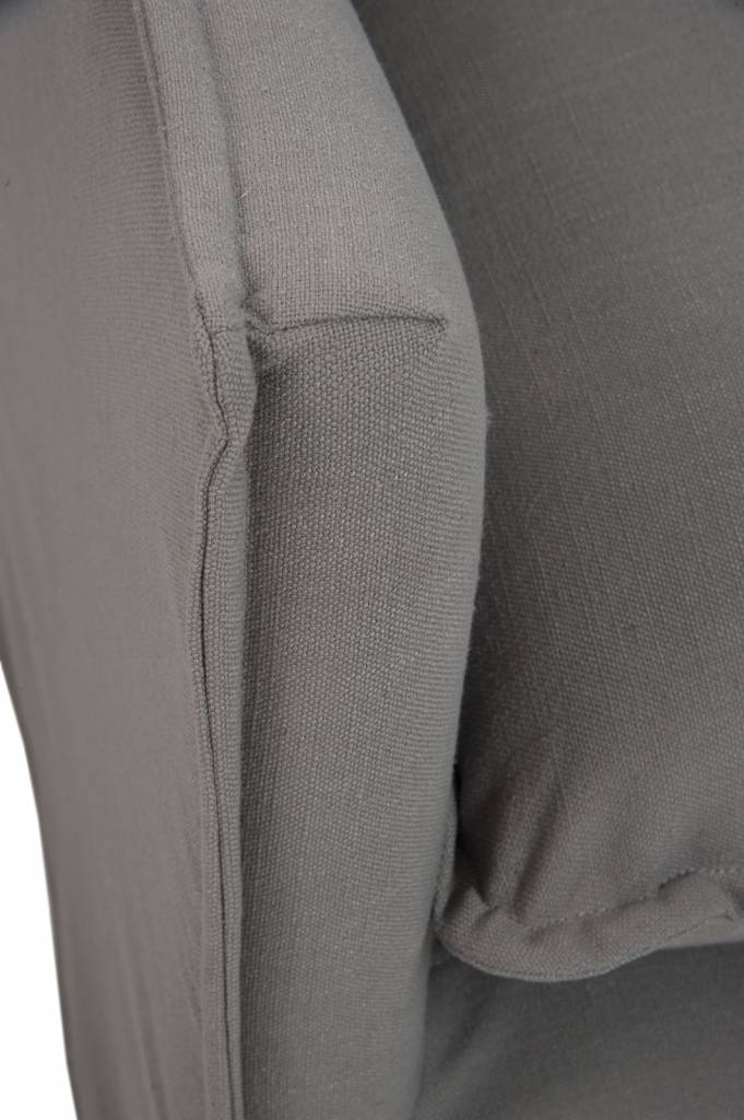 J-Line Zetel Alex grijs linnen