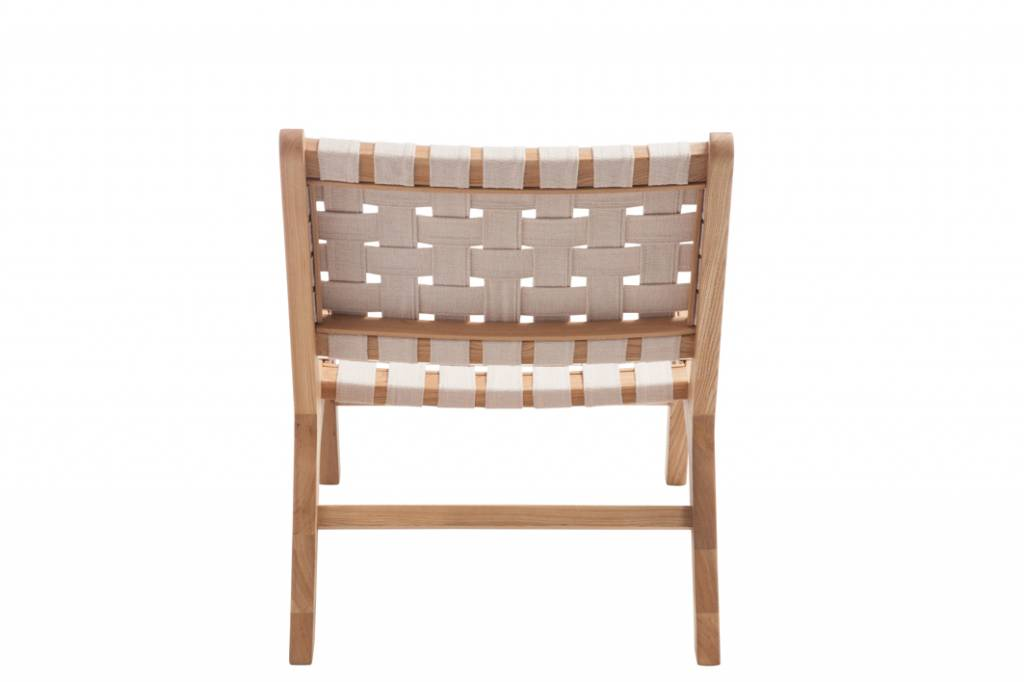 Relax Lounge Stoel.Chair Ethnic White