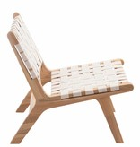 J-Line Lounge chair ethnic white set of 2