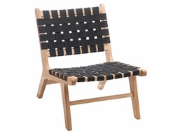 J-Line Chair Ethnic black s/2