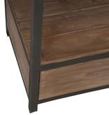 J-Line Bookshelf drawers metal & wood