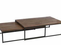 J-Line Coffeetable set Black & Brown