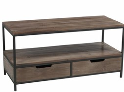 J-Line Coffeetable Black & Brown