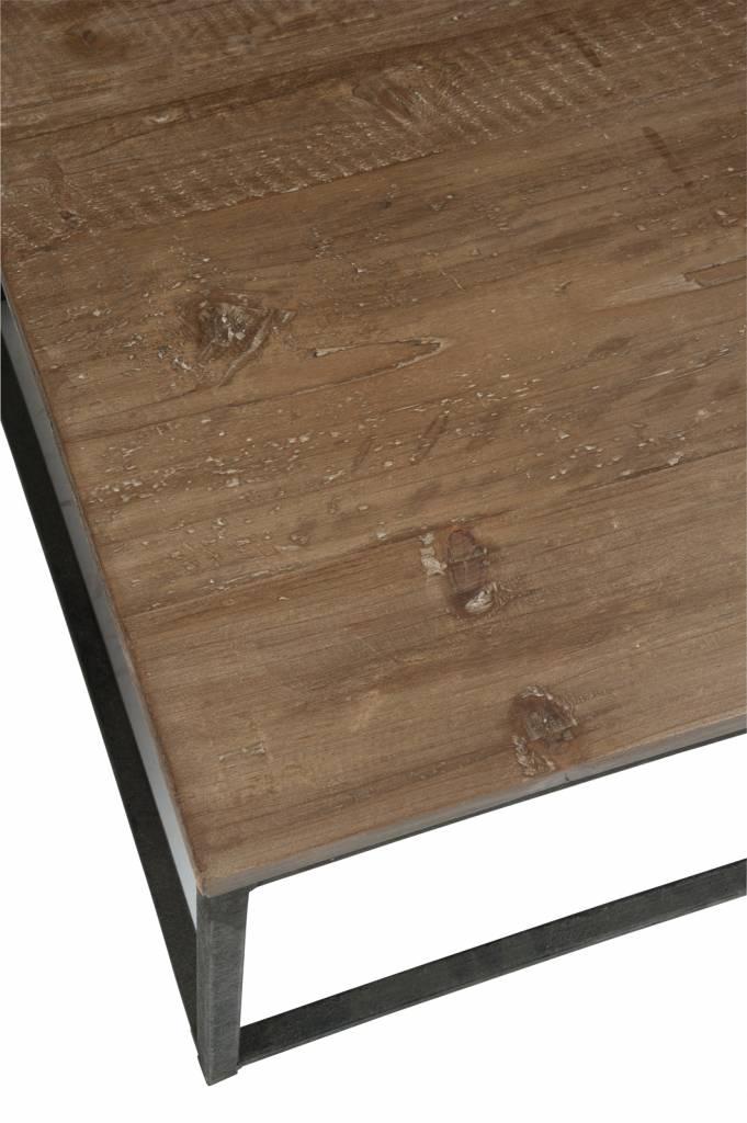 J-Line Side table Black & brown
