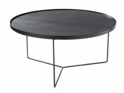 J-Line Side table Black-brown large